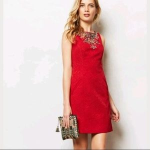 Moulinette Soeurs Anthropologie Red Toulouse Dress